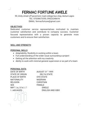 Research Survey CV | Research & Survey CVs for sale in Lagos State, Yaba