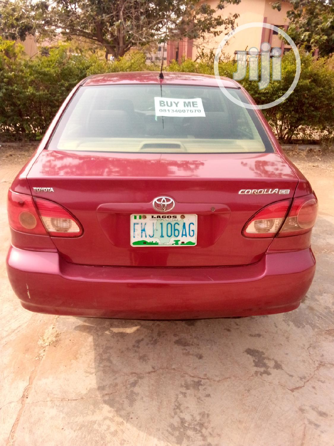 Archive: Toyota Corolla 2006 CE Red