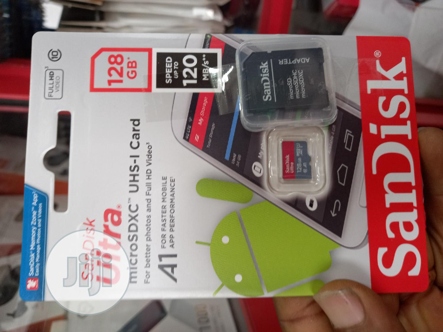 Sandisk Ultra 128GB Micro SD Card   Accessories for Mobile Phones & Tablets for sale in Ikeja, Lagos State, Nigeria