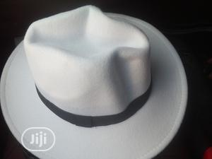 Unisex White Fedora-White   Clothing Accessories for sale in Lagos State, Ikeja