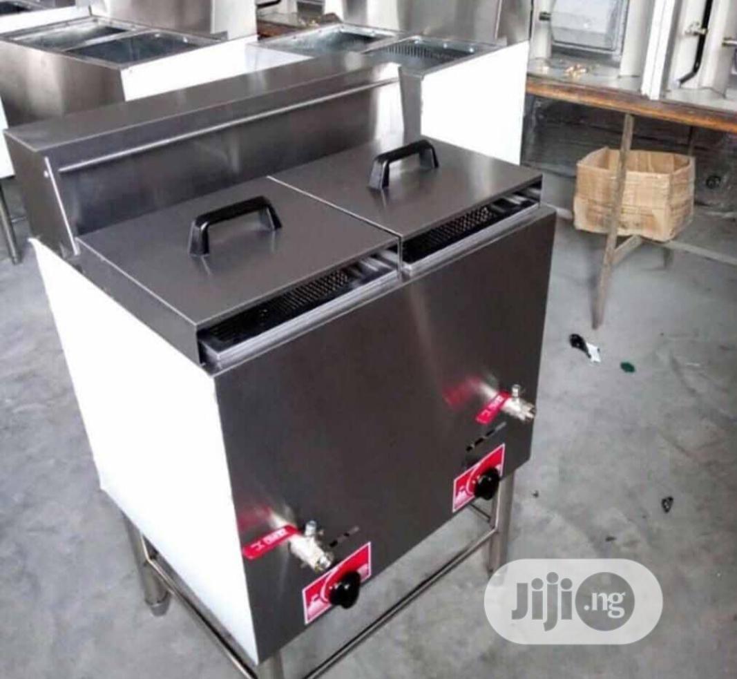Standing Double Deep Gas Fryer
