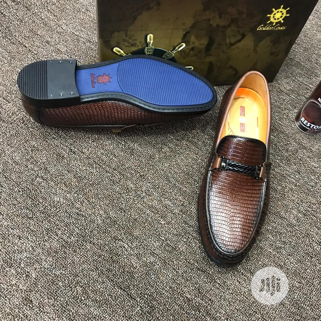 Golden Coxen Shoe | Shoes for sale in Ikeja, Lagos State, Nigeria