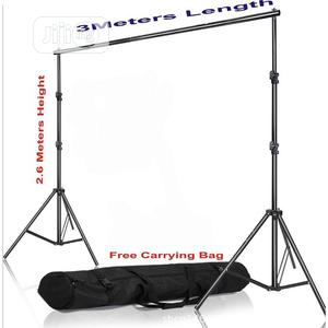 Adjustable 2.6 X 3M Photography Background Stand With Bag | Accessories & Supplies for Electronics for sale in Lagos State, Victoria Island