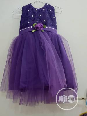 Girls Purple Dress with Embroidery    Children's Clothing for sale in Abuja (FCT) State, Gwarinpa