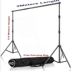 Photography 2.6 X 3M Background Stand With Free Carry Bag | Accessories & Supplies for Electronics for sale in Oyo State, Ibadan
