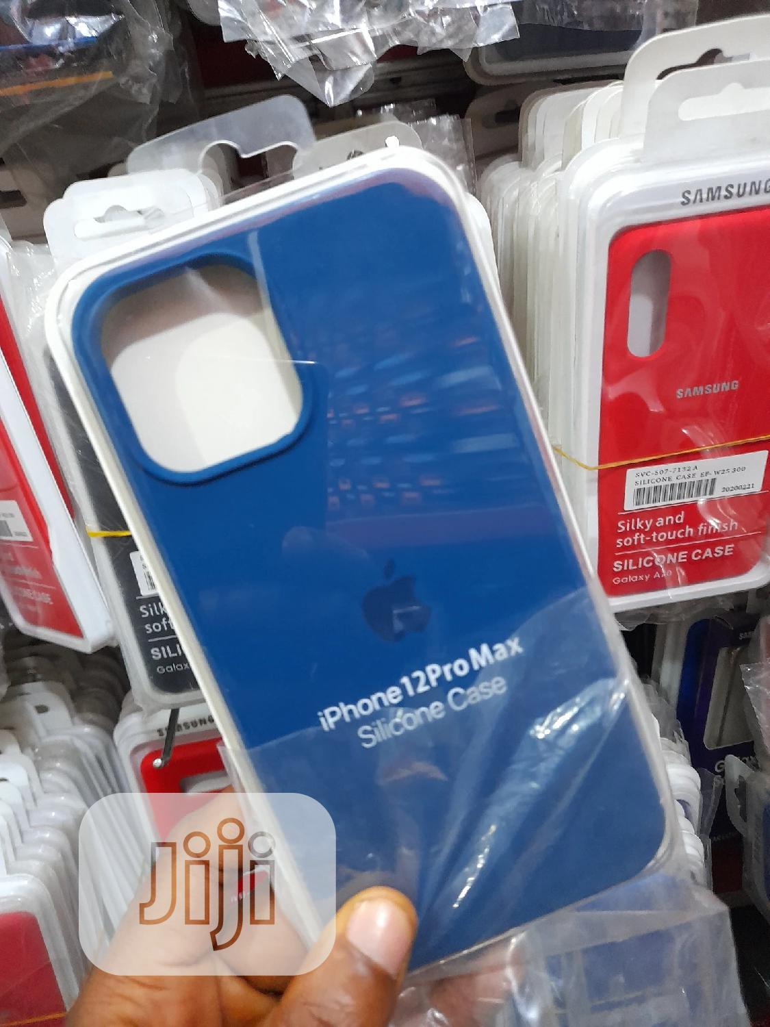 Original Silicone Pouch for iPhone 12 Pro Max   Accessories for Mobile Phones & Tablets for sale in Ikeja, Lagos State, Nigeria