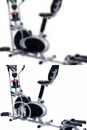 Orbitrac Bike With Stepper, Twister, Dumbbell And Backrest | Sports Equipment for sale in Rivers State, Port-Harcourt