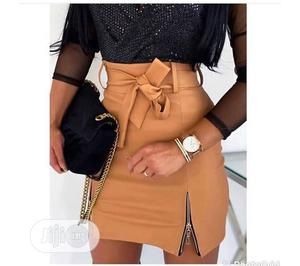 Leather Skirt and Turtle Neck Top   Clothing for sale in Lagos State, Agege