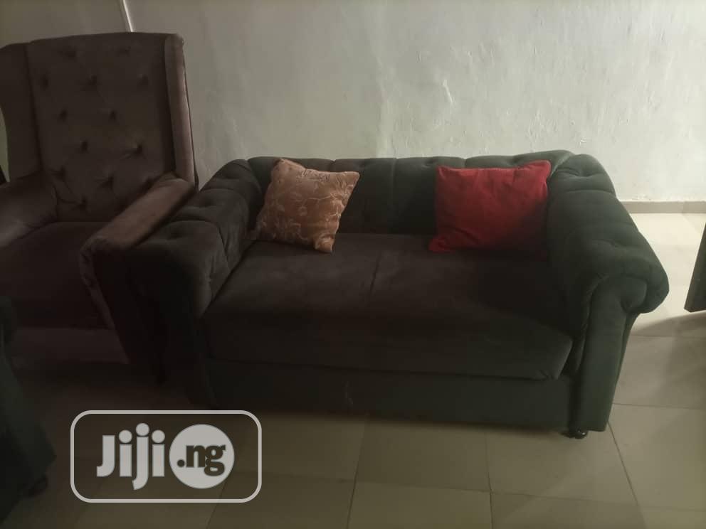 Ash Sofa 3,2sitter Master Igwe Chair | Furniture for sale in Ejigbo, Lagos State, Nigeria
