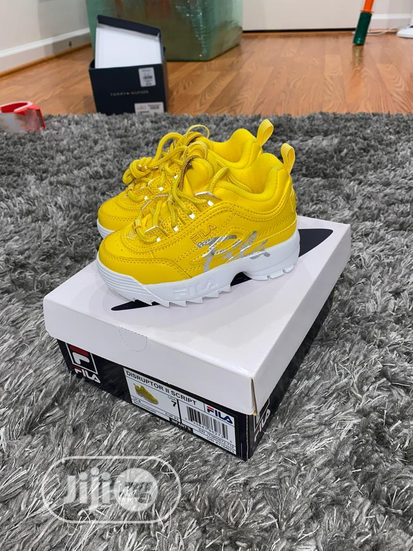 Yellow Sneakers USA Brand | Children's Shoes for sale in Magodo, Lagos State, Nigeria