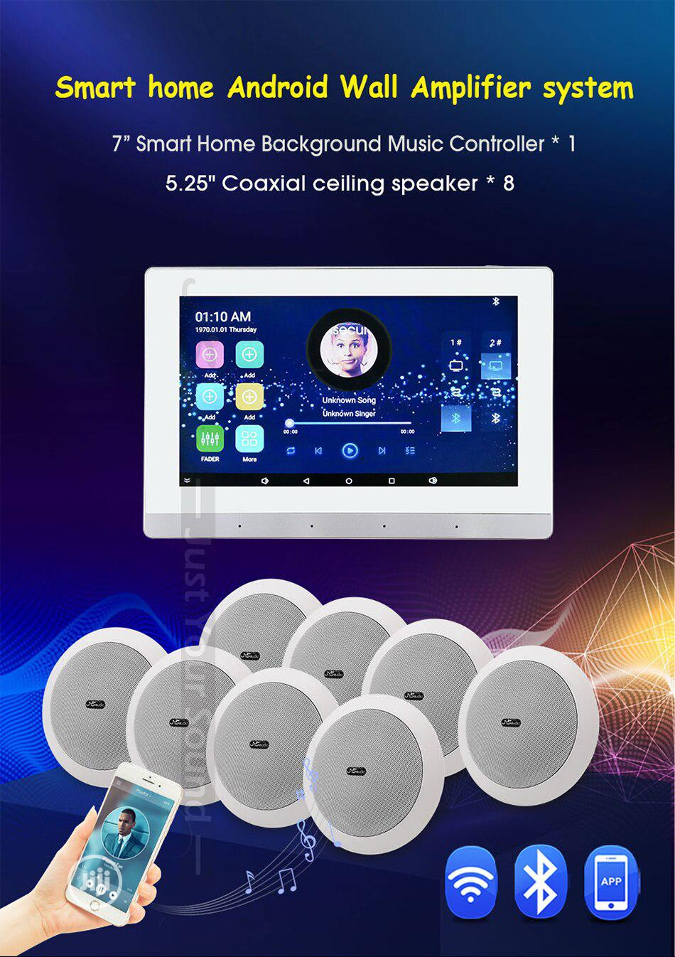 Android Bluetooth Wall Amp With 8 Ceiling Speakers
