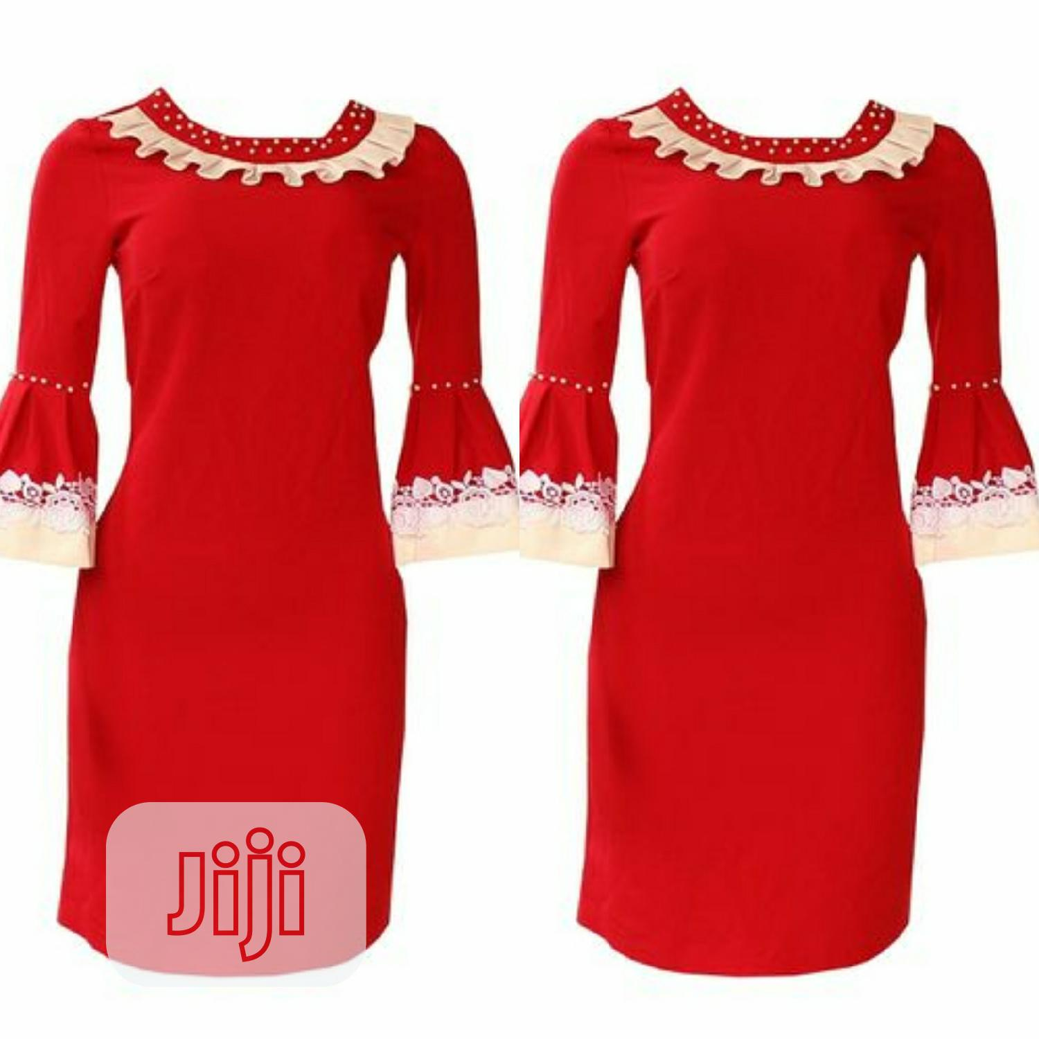 Ladies Red Dress | Clothing for sale in Ikeja, Lagos State, Nigeria