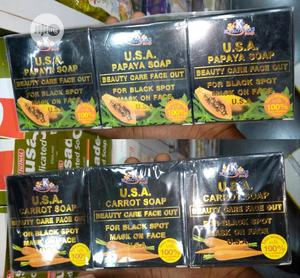K Brothers Papaya And Carrot Soap (6pics In Each Pk)   Bath & Body for sale in Lagos State, Ojo