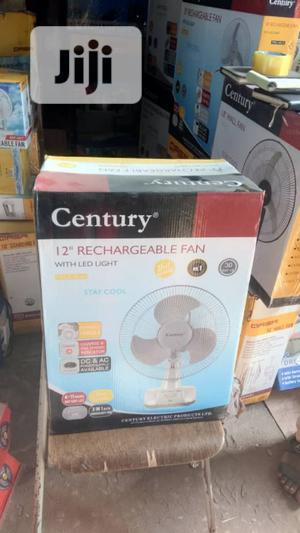 12 Inches Century Rechargeable Fan With Light | Home Appliances for sale in Lagos State, Ojo