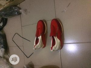 Red/White Canvas   Shoes for sale in Lagos State, Yaba