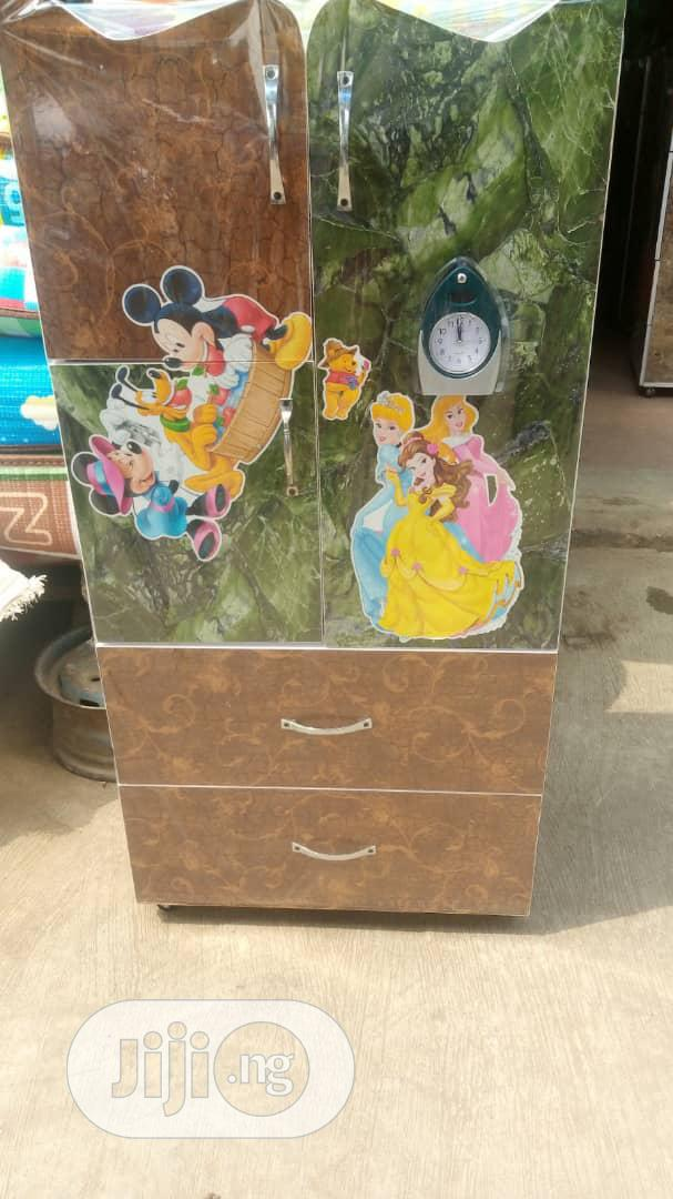 Baby Wooden Wardrobe With Drawers