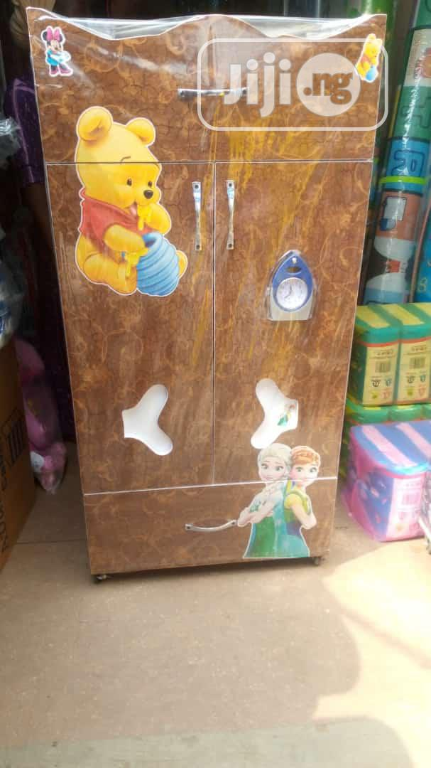 Baby Wooden Wardrobe With Drawer