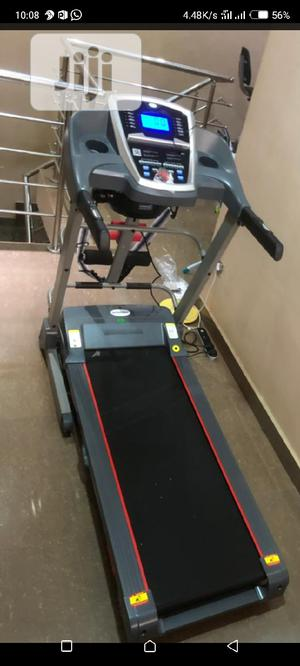 Standard 2.5hp Treadmill With Massager Dumbbell   Sports Equipment for sale in Lagos State, Victoria Island