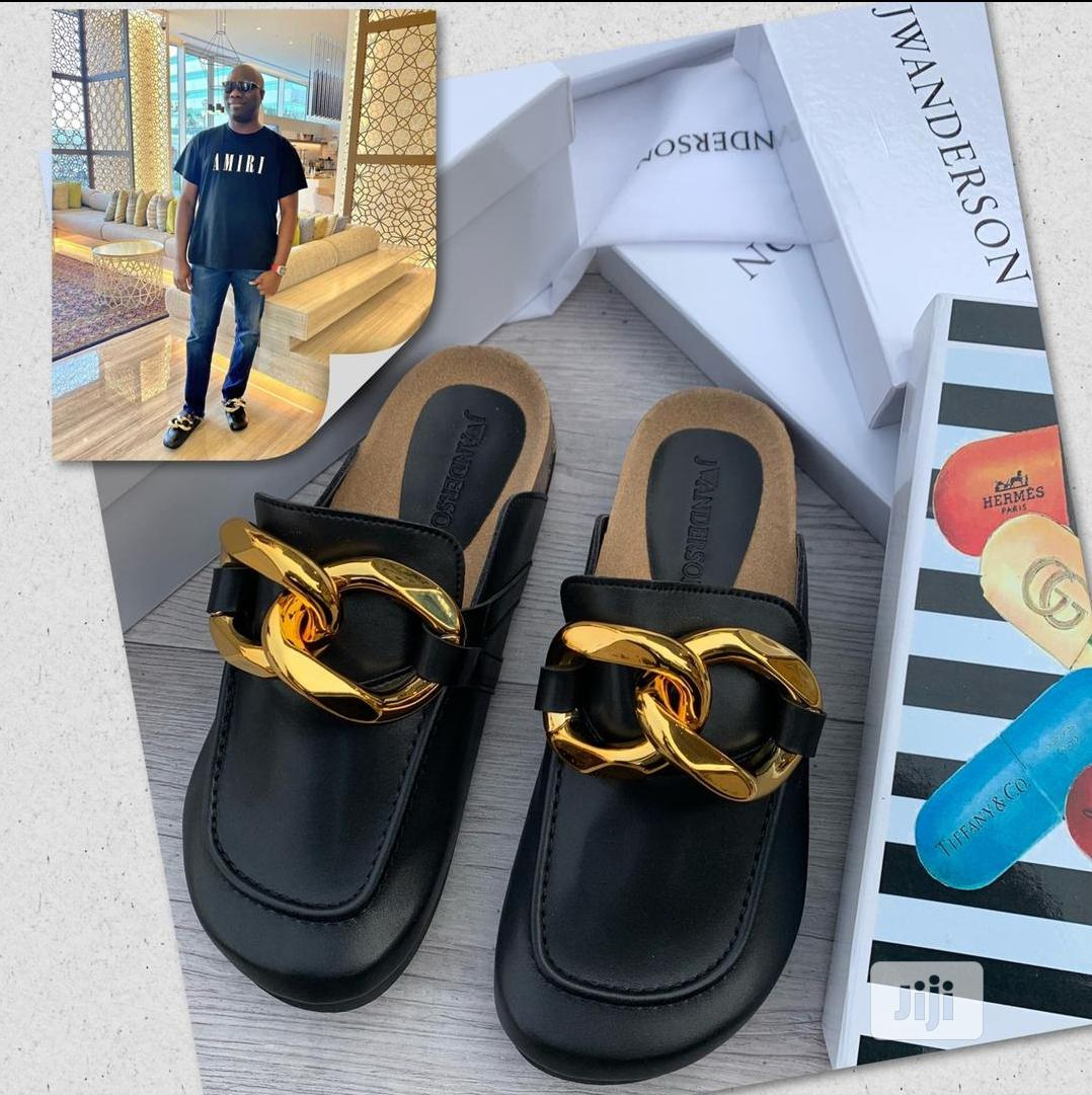 Jwanderson Luxury Gold Plated Half Shoe Slippers