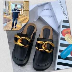 Jwanderson Luxury Gold Plated Half Shoe Slippers | Shoes for sale in Lagos State, Lagos Island (Eko)