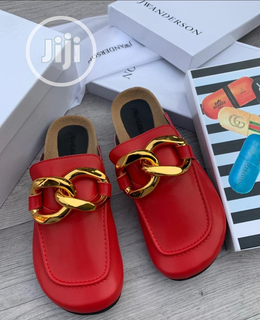 Jwanderson Luxury Gold Plated Half Shoe Slippers | Shoes for sale in Lagos Island (Eko), Lagos State, Nigeria
