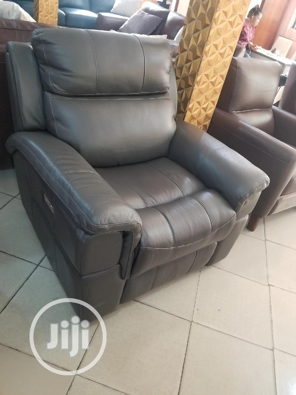 Single Italian Leather Sofa