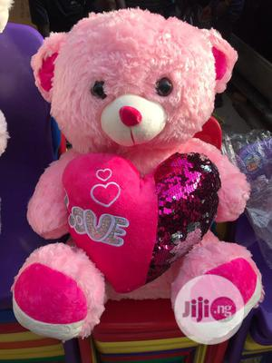 Pink Love Teddy Bear | Toys for sale in Lagos State, Amuwo-Odofin