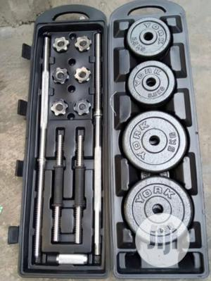 50kg Weight Plate and Barbell | Sports Equipment for sale in Lagos State, Ikeja