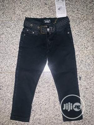 Black Jeans + Belt( Age 2,3,4,5years). Made in Turkey | Children's Clothing for sale in Abuja (FCT) State, Gwarinpa