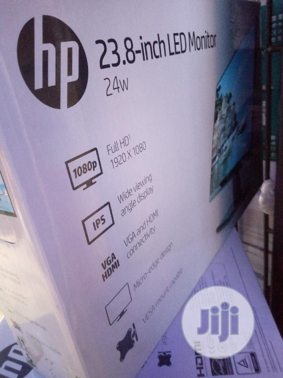 Hp 23.8-Inch Led Monitor 24w | Computer Monitors for sale in Ikeja, Lagos State, Nigeria