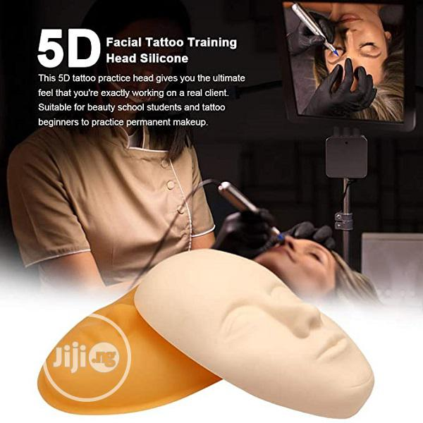 5D Facial Silicone Practice Tattoo Skin Mannequin Doll