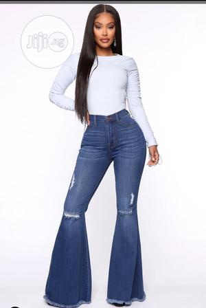 (Fashion Nova Standard)Slightly Distressed High Waist Jeans | Clothing for sale in Lagos State, Ajah