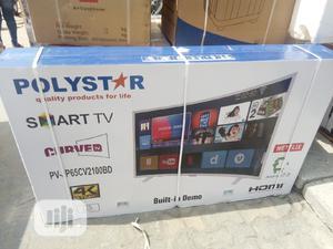 "Polystar 65"""" Smart Curved Tv= Pv-P65cv2100bd | TV & DVD Equipment for sale in Lagos State, Ojo"
