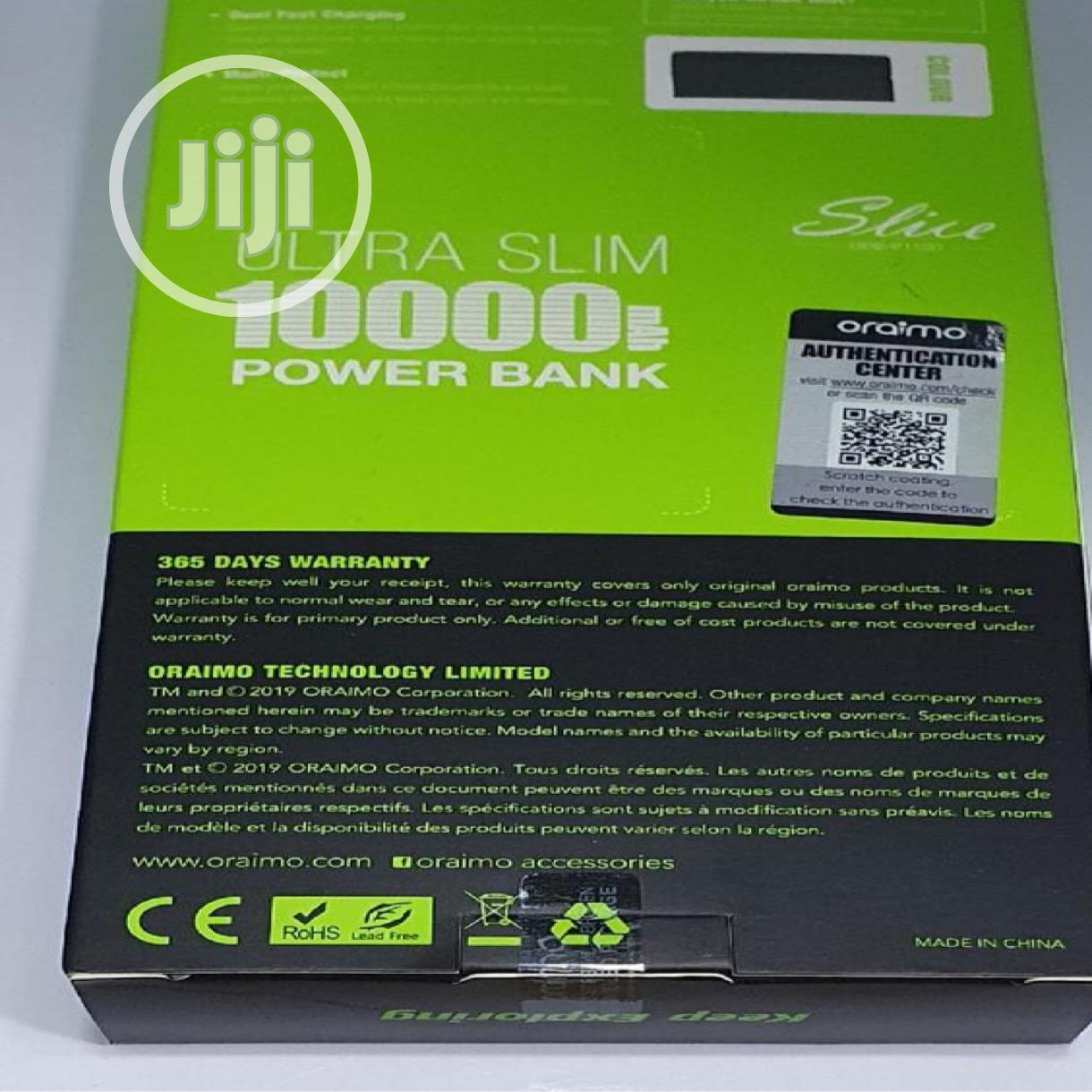 Oraimo OPB-P110D Ultra Slim 10,000mah Fast Charge Powerbank | Accessories for Mobile Phones & Tablets for sale in Port-Harcourt, Rivers State, Nigeria