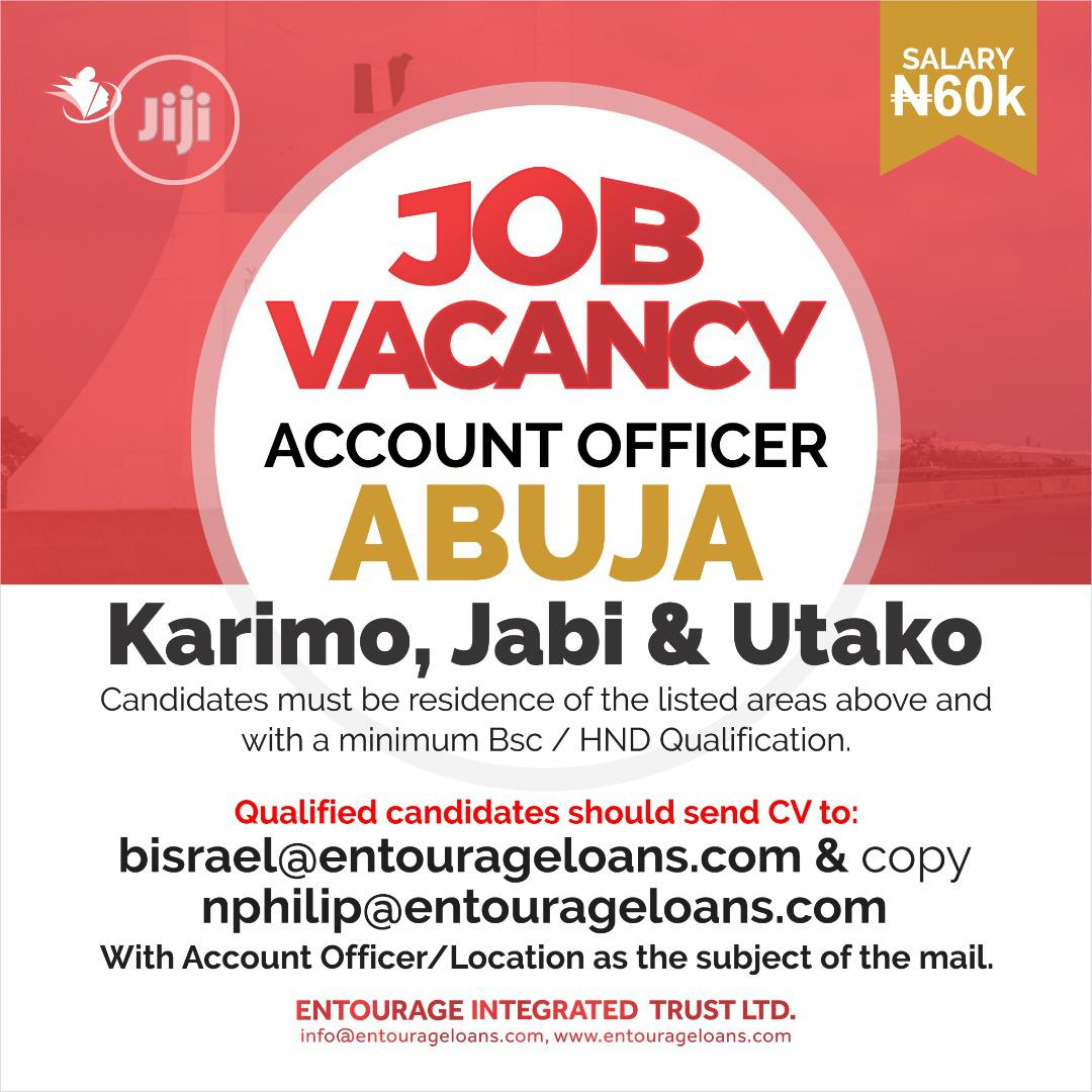 Archive: Account Officer Abuja