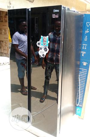 Midea 527L Black Mirror Inverter Side by Side Fridge 689WEN | Kitchen Appliances for sale in Lagos State, Ojo