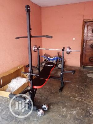 Weight Bench With Latpull and 50kg Weights | Sports Equipment for sale in Osun State, Ilesa