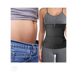 Double Compression Women Waist Trainer/Slimming Belt -Black | Clothing Accessories for sale in Lagos State, Ikeja
