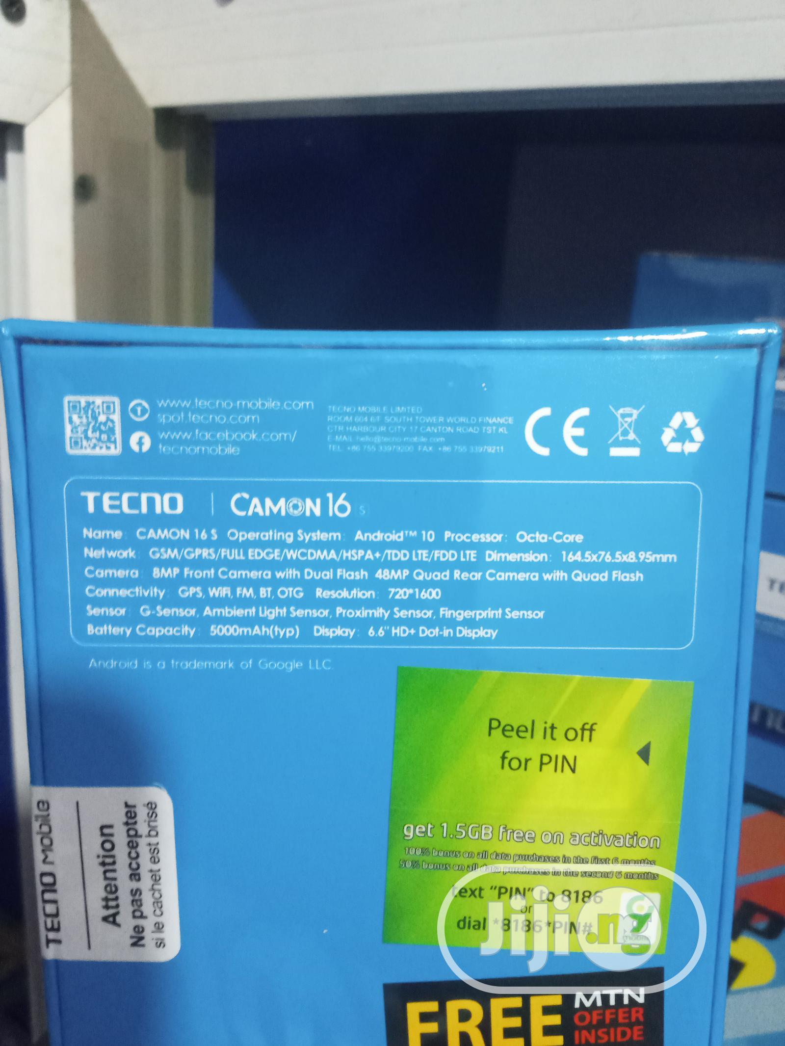 New Tecno Camon 16S 128 GB | Mobile Phones for sale in Ikeja, Lagos State, Nigeria