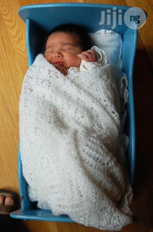 Knitted Baby Shawl Blanket