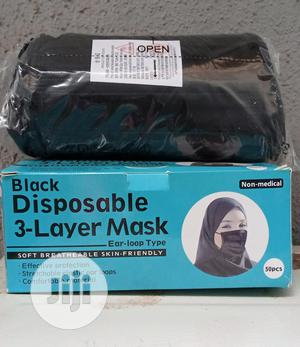 Imported Black Facemask Nose Mask   Safetywear & Equipment for sale in Lagos State, Lagos Island (Eko)