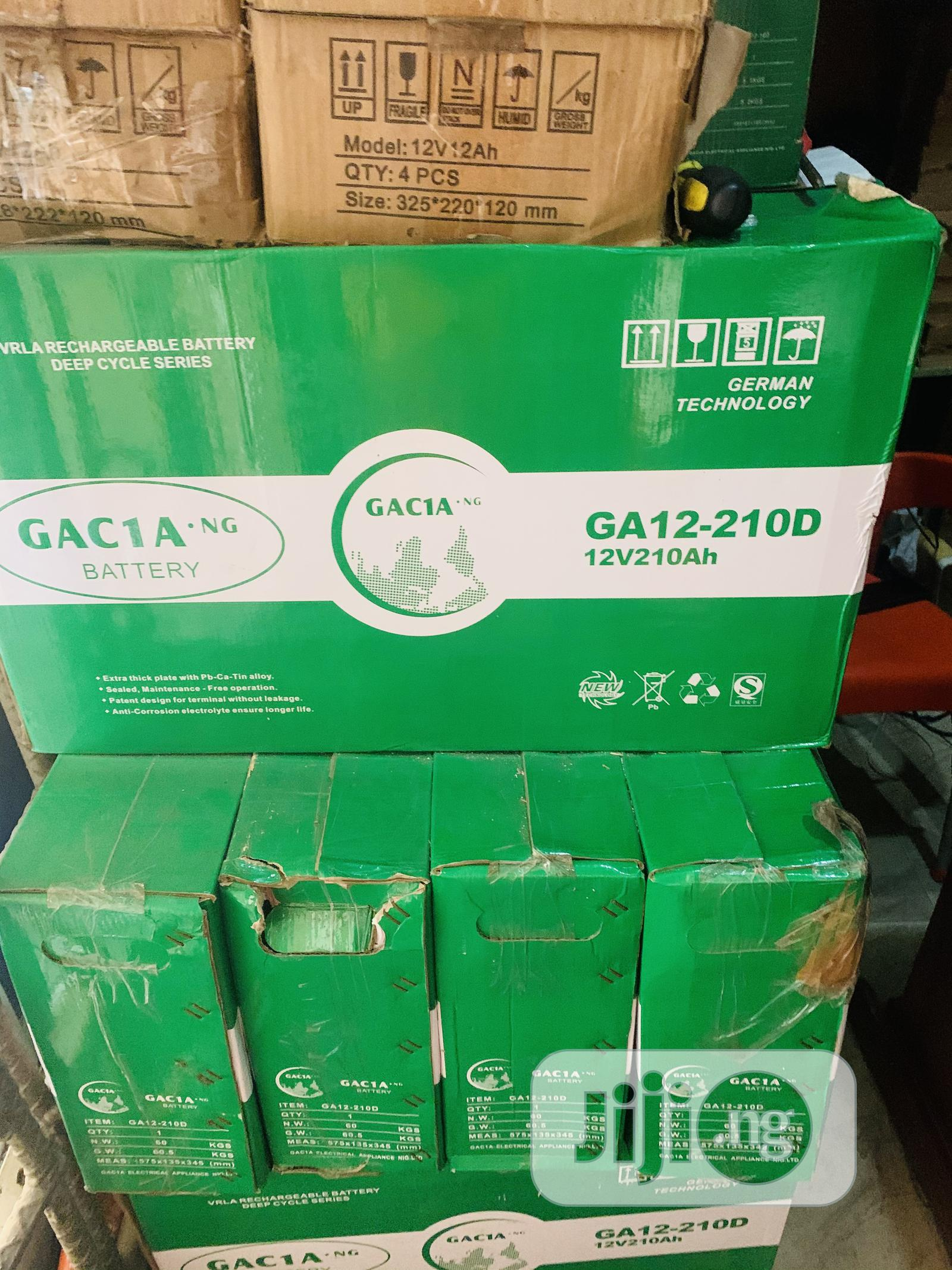 210ah 12v Gacia Solar Slim Battery 2yrs Warranty   Solar Energy for sale in Ikoyi, Lagos State, Nigeria