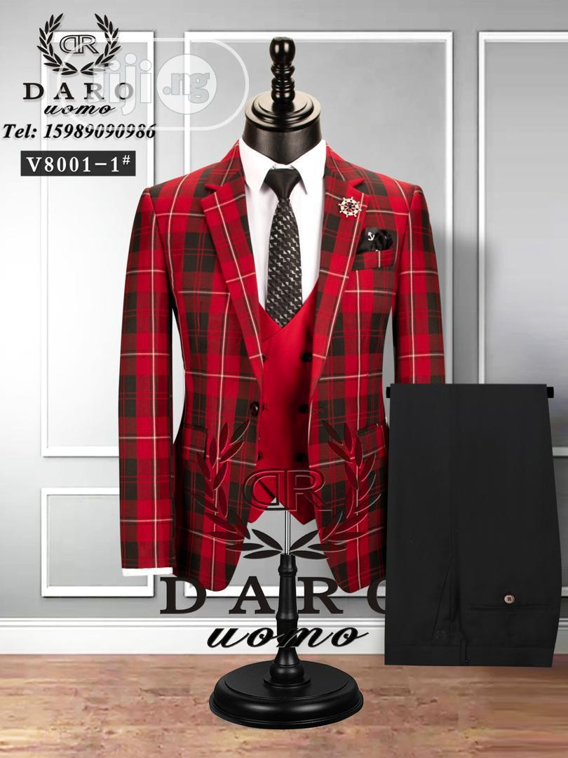 Turkish Red and Black Checkers Suit