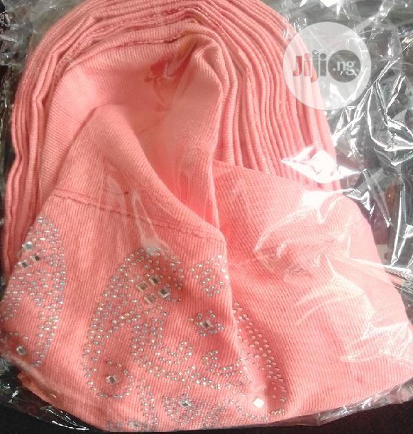 Peach Auto Gele With Aso Oke | Clothing Accessories for sale in Ikeja, Lagos State, Nigeria