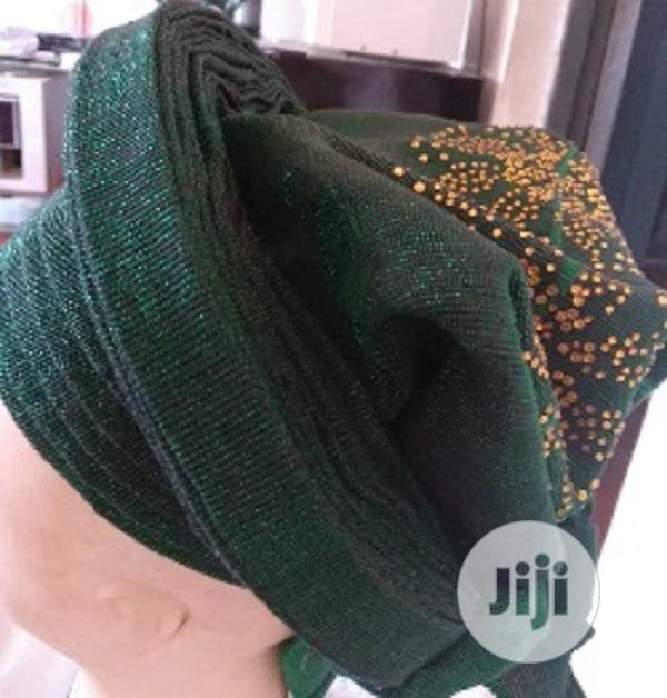 Green Auto Gele With Aso Oke | Clothing for sale in Ikeja, Lagos State, Nigeria