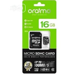 Oraimo 16GB Memory Card (Micro SDHC) | Accessories for Mobile Phones & Tablets for sale in Rivers State, Port-Harcourt