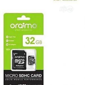 Oraimo 32gb Memory Card (Micro Sdhc) - Class 10   Accessories for Mobile Phones & Tablets for sale in Abuja (FCT) State, Wuse