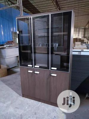Higher Quality Office Shelve With Transparant Glass | Furniture for sale in Lagos State, Ojo