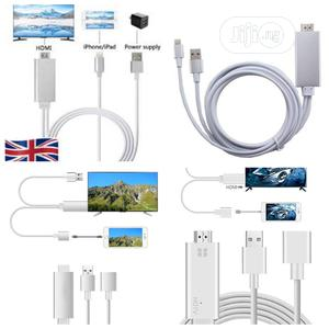 Lightning to HDMI Cable Adapter HDTV Cable for iPhone,iPods   Accessories for Mobile Phones & Tablets for sale in Lagos State, Alimosho