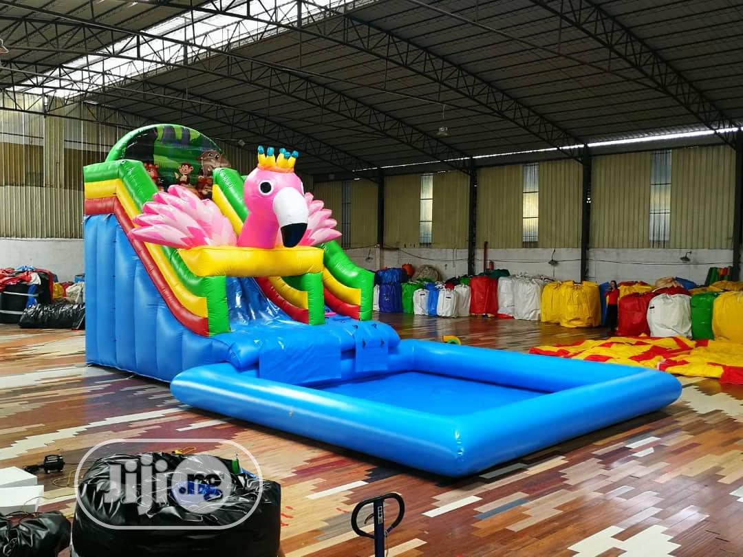 Colourful Slide and Pool for Rent